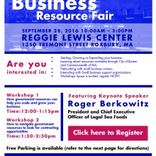 Small Business Resource Fair in Boston