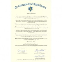 Governor Baker Proclaims Tourism Day in Massachusetts, May 13, 2015