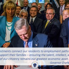 Governor Baker Signs Economic Development Legislation in Massachusetts