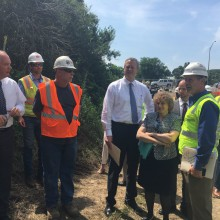 Governor Baker and Lt. Governor Polito visit transportation investments across Massachusetts