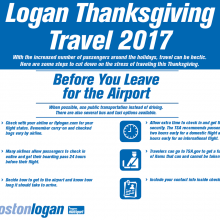 MASSDOT, MASSPORT, MBTA READY FOR THANKSGIVING TRAVEL