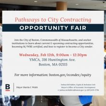 Opportunity Fair – Pathways to City Contracting